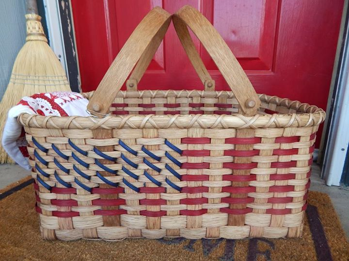 Patriotic Picnic Basket Weaving Pattern